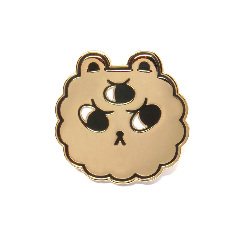 Gold Puff Enamel Pin