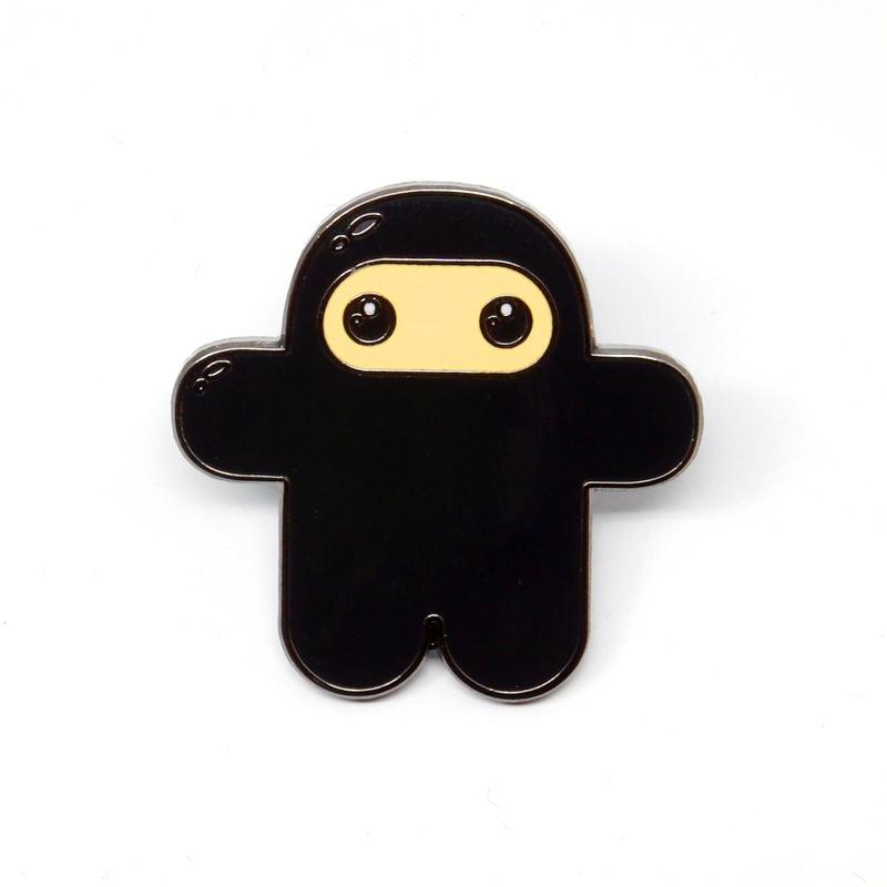 Wee Ninja Black Enamel Pin