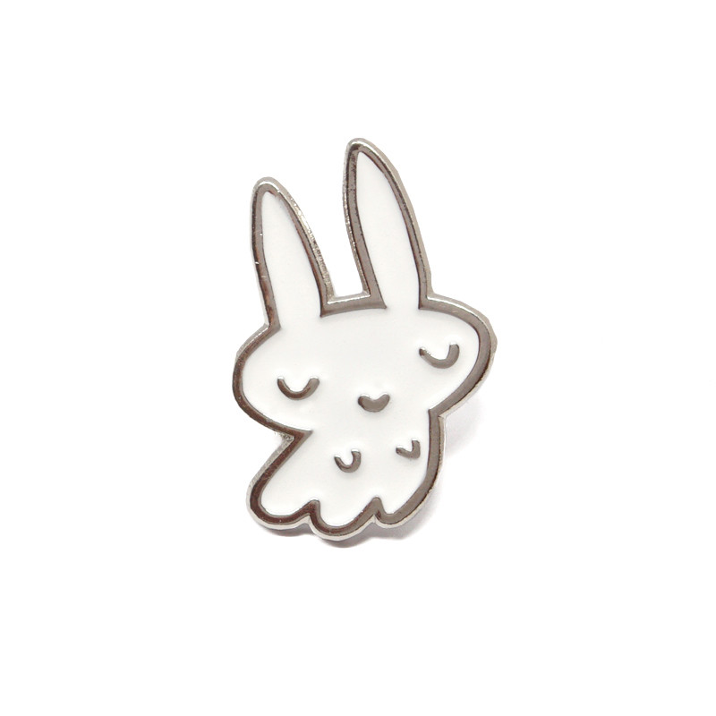 Ghost Bunnie Enamel Pin