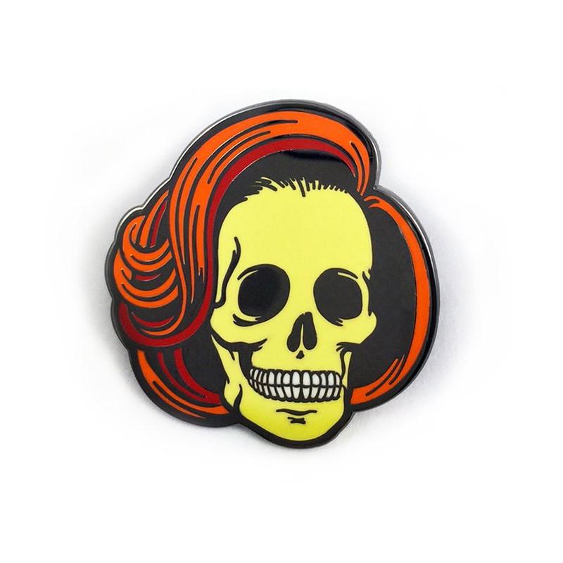 Skully Enamel Pin