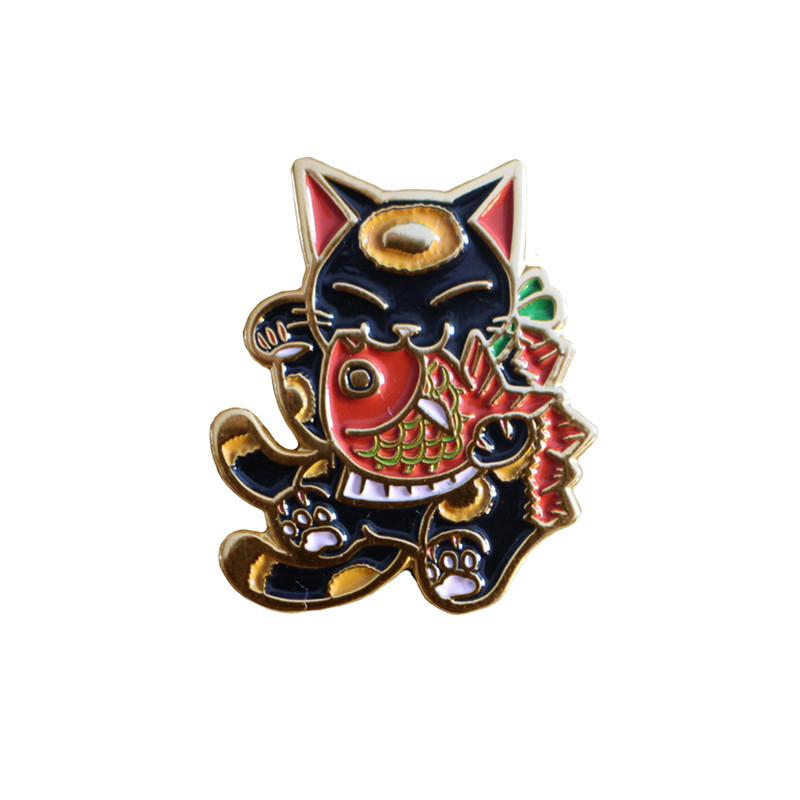 Negora and Koi Pin : Black and Red PRE-ORDER SHIPS MAY 2017