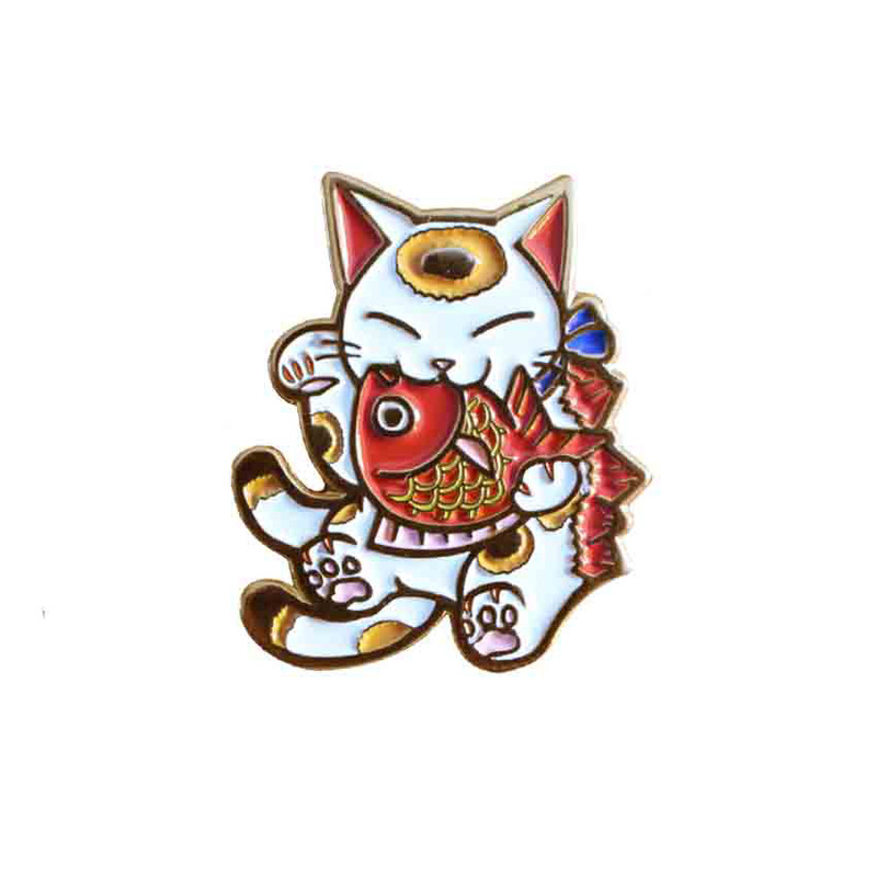 Negora and Koi Pin : White and Gold PRE-ORDER SHIPS MAY 2017