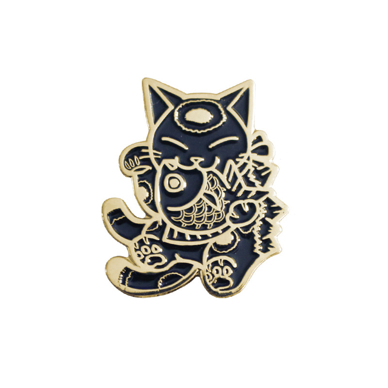Negora and Koi Pin : Black and Gold PRE-ORDER SHIPS MAY 2017