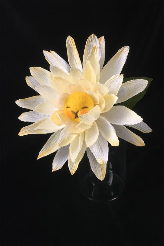 Yellow Dahlia Flower Bun 2 by plushPLAY