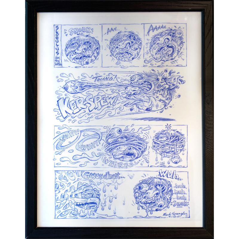 Madball Sketch by Original Madball Artist Mark Spangler