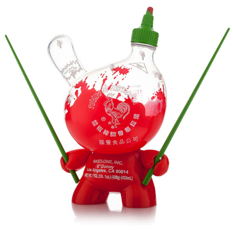 Dunny 8 inch : Sketracha Clear