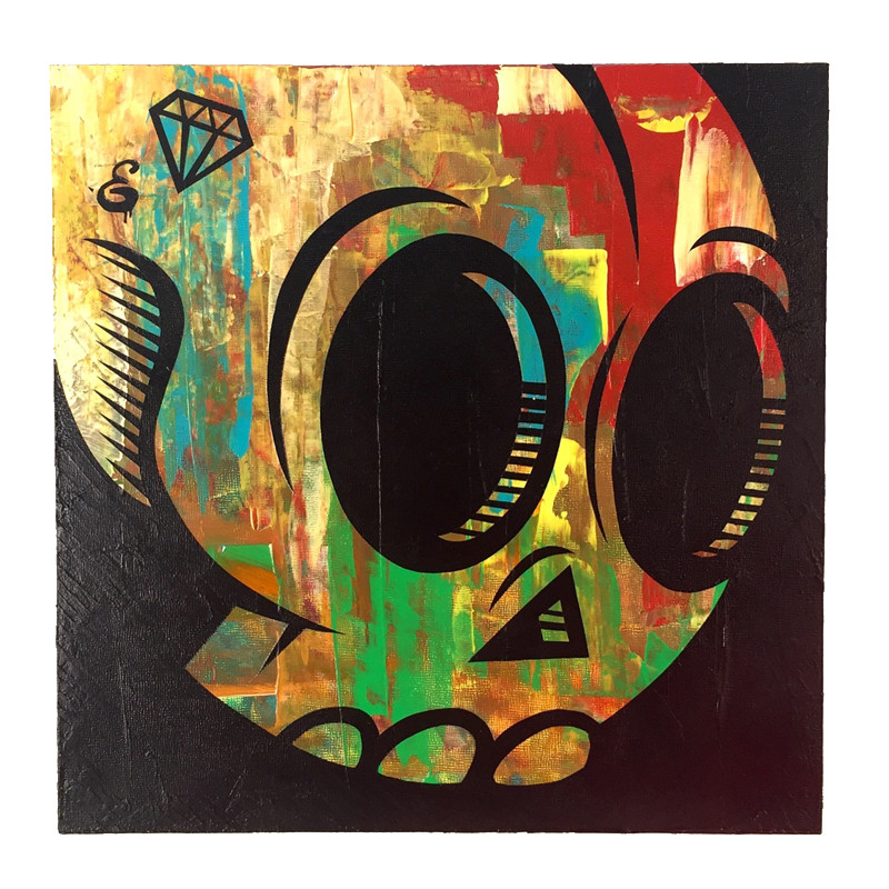 Abstract Skull #1 by EpicUno *SOLD*