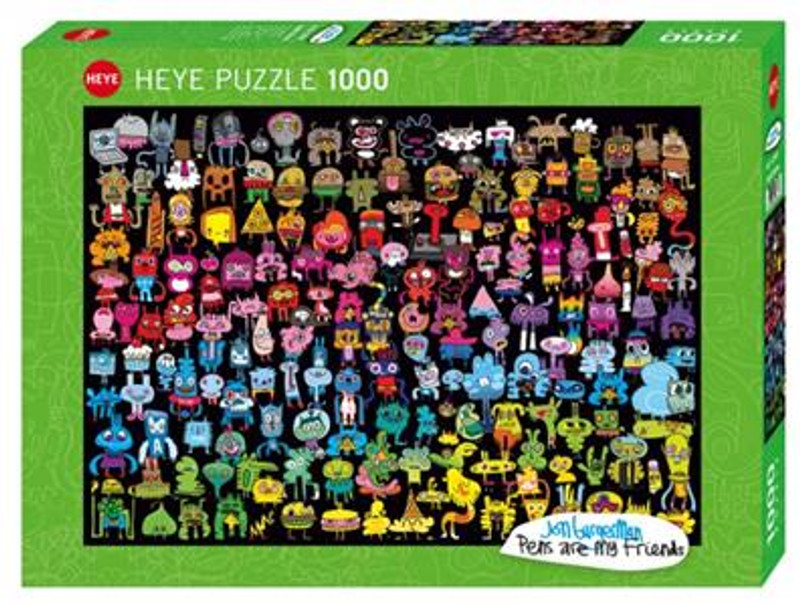 Doodle Rainbow 1000 Piece Puzzle by Jon Burgerman