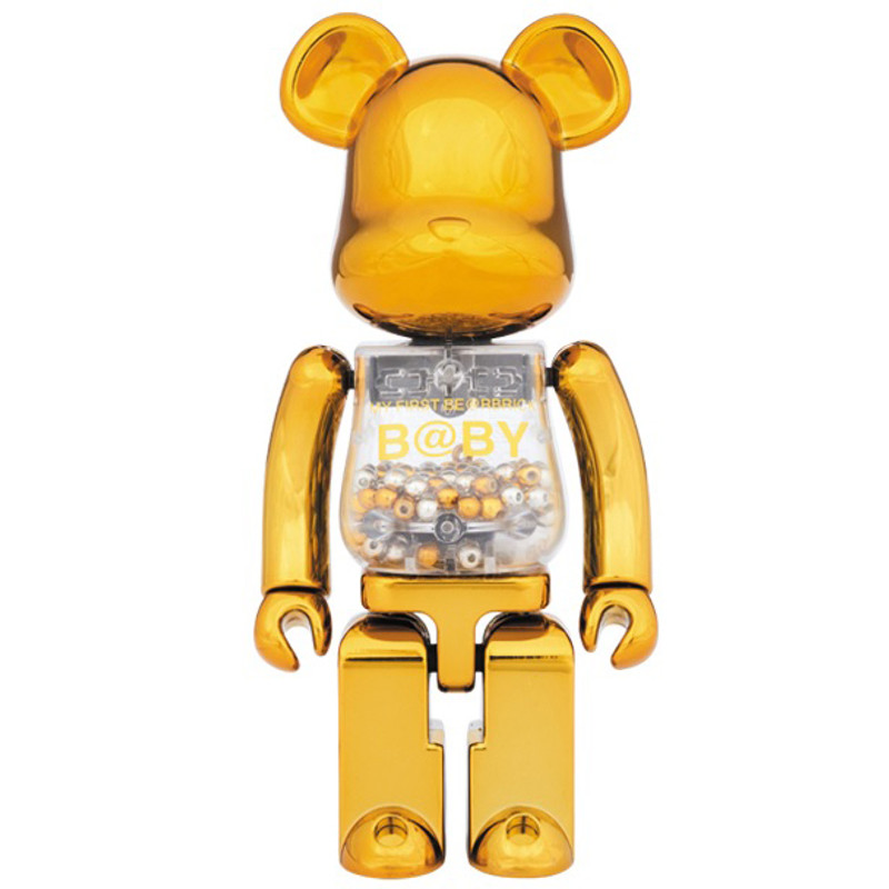Super Alloy My First Be@rbrick :  Gold & Silver