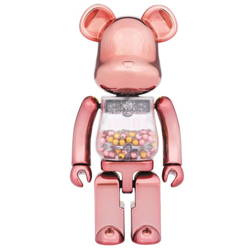 Super Alloy My First Be@rbrick :  Pink & Gold