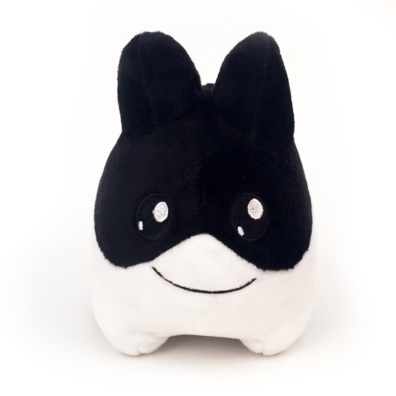 4.5 inch Litton Plush : Black and White