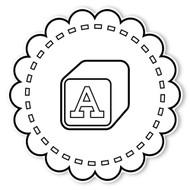 Caleb Gray Studio Coloring: Alphabet Block