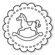 Caleb Gray Studio Coloring: Rocking Horse
