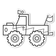Caleb Gray Studio Coloring: Monster Truck Zig Zag
