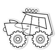 Caleb Gray Studio Coloring: Monster Truck Burst