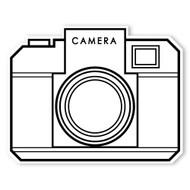 Caleb Gray Studio Coloring: Retro One Click Camera