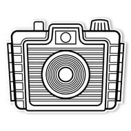 Caleb Gray Studio Coloring: Brownie Holiday Camera