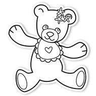Caleb Gray Studio Coloring: Teddy Bear Bib