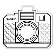 Caleb Gray Studio Coloring: Retro Point & Shoot Camera