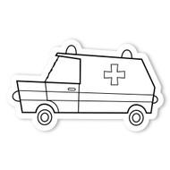Caleb Gray Studio Coloring: Ambulance Van