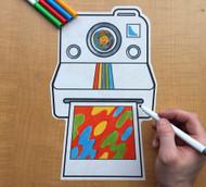 Caleb Gray Studio Coloring: Instant Camera