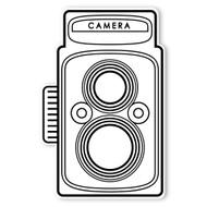 Caleb Gray Studio Coloring: Twin Lens Camera