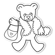 Caleb Gray Studio Coloring: Teddy Bear Feather Boa