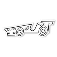Caleb Gray Studio Coloring: Race Car Number 4