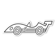 Caleb Gray Studio Coloring: Race Car Number 6
