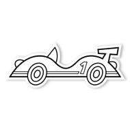 Caleb Gray Studio Coloring: Race Car Number 1