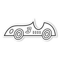 Caleb Gray Studio Coloring: Race Car Number 3