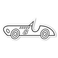 Caleb Gray Studio Coloring: Race Car Number 8