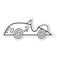 Caleb Gray Studio Coloring: Race Car Number 2
