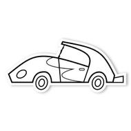 Caleb Gray Studio Coloring: Muscle Car Burst