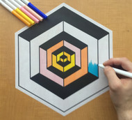 Eric Vozzola Coloring: Illusion Cube