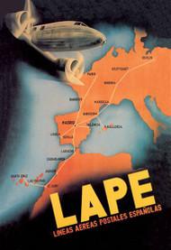 LAPE - Spanish Postal Airlines European Routes