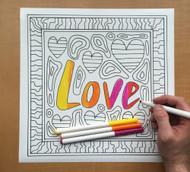 Begsonland Love Doodle Decal