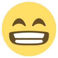 Emoji One Wall Icon Grinning Face With Smiling Eyes