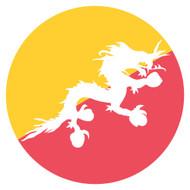 Emoji One Wall Icon Bhutan Flag
