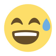 Emoji One Wall Icon Smiling Face With Open Mouth And Cold Sweat