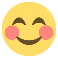 Emoji One Wall Icon Smiling Face With Smiling Eyes