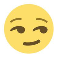 Emoji One Wall Icon Smirking Face