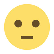 Emoji One Wall Icon Neutral Face