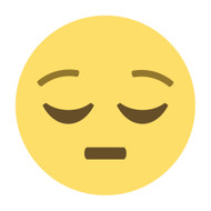 Emoji One Wall Icon Pensive Face