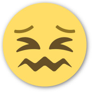 Emoji One Wall Icon Confounded Face