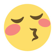 Emoji One Wall Icon Kissing Face With Closed Eyes