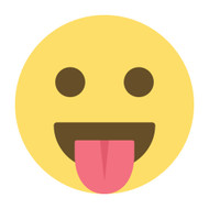 Emoji One Wall Icon Face With Stuck-Out Tongue