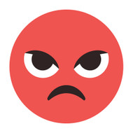 Emoji One Wall Icon Pouting Face