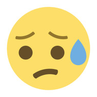 Emoji One Wall Icon Disappointed But Relieved Face
