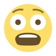 Emoji One Wall Icon Fearful Face